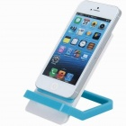 Sencillez Estilo plegable desmontable Mobile Phone Holder Skid Panel Proof - azul + blanco