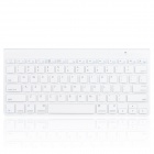 KB10 Ultra-thin Wireless Bluetooth V3.0 78-Key Keyboard for Smart Phone / Tablet PC- White (2 x AAA)