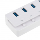 7 puertos USB 3.0 Hub w / Switch Control - Blanco