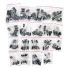 Hongyang Electrolytic Capacitors - Black + Silver (190 PCS)