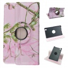 360 Degree Rotation Protective PU Leather Case Stand for Samsung Galaxy Tab Pro T320 8.4 - Pink