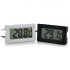 131 1.6'' LCD Digital Thermometer w/ 1m Depth Waterproof Probe - White Diamond + Black (2 PCS)