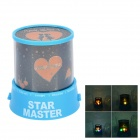 Mini Stars Lovers 4-LED Colorful Light Projection Lamp (3 x AA)