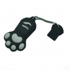 Cat Paw Style USB 2.0 Flash Drive - Black + White (4GB)