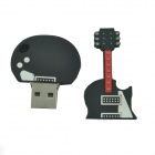 Guitar Style USB 2.0 Flash Drive Disk - Black (32GB)