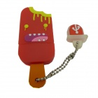 Ice Cream Style USB 2.0 Flash Drive Disk - Red + Multicolored (4GB)