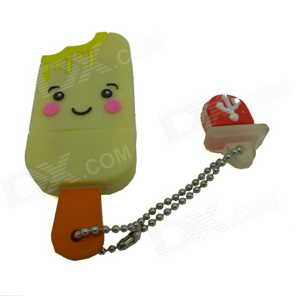 Ice Cream Style USB 2.0 Flash Drive Disk - Yellow + Multicolored (4GB) penguin style usb 2 0 flash drive disk black white 4gb