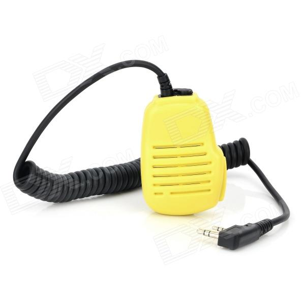 Universal Handheld Microphone for Walkie Talkie - Light Yellow + Black handheld microphone for motorola walkie talkie red