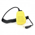 Universal Handheld Microphone for Walkie Talkie - Light Yellow + Black
