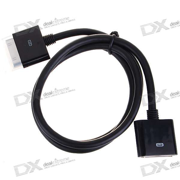 Dock Extender Data/Charging Cable for All iPod/iPhone 2G/3G/3GS - Black (80CM)