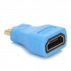 HDMI Female to Mini HDMI Male Adapter - Blue + Golden