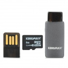 KINGMAX TF Memory Card w/ OTG Card Reader / USB Adapter - Black (8 GB / Class 10)
