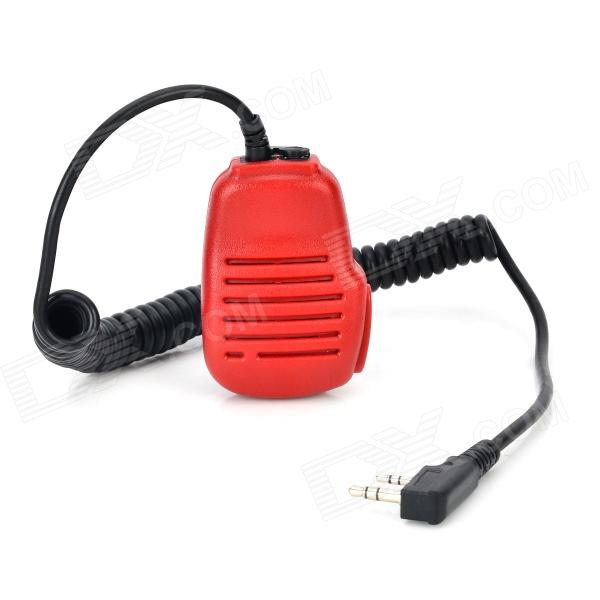 Universal Handheld Microphone for Walkie Talkie - Red handheld microphone for motorola walkie talkie red