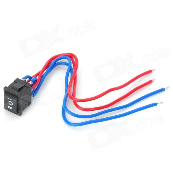 12A DC Motor Manual Forward / Reverse Switch w/ Cable - Black + Red