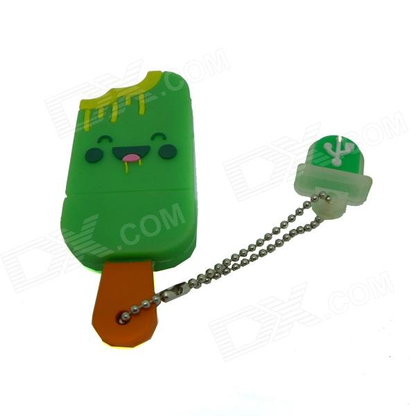 Ice Cream Style USB 2.0 Flash Drive Disk - Green + Multicolored (4GB) penguin style usb 2 0 flash drive disk black white 4gb