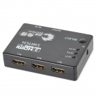 QUICKMAN RM301 3 In 1 Out 1080P HDMI Switch / Splitter w/ Remote Control - Black
