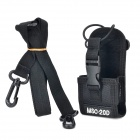 Universal Multifunctional Nylon Adjustable Strap Bag for Walkie Talkie - Black + White