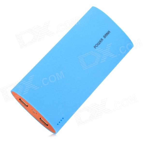 BP Shake Open 20000mAh Mobile Power Source Bank for IPHONE 5S / Samsung / HTC - Blue + Orange bp 15000mah dual usb mobile power source bank for iphone 5s samsung htc white green