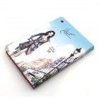 Cute Series Protective PU Leather Case Cover Stand w/ Auto Sleep for IPAD MINI - Blue + White
