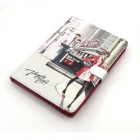 Cute Series Protective PU Leather Case Cover Stand w/ Auto Sleep for iPad Mini - Grey + Red