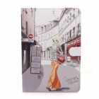 Cute Series Protective PU Leather Case Cover Stand w/ Auto Sleep for RETINA IPAD MINI - Multicolored