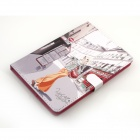 Serie carina PU protettiva in pelle Cover Case Stand w / Auto Sleep per RETINA IPAD MINI - multicolori