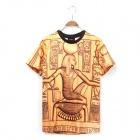 Fashion Short-sleeved Printing Series T-shirt - Brass (XXL)