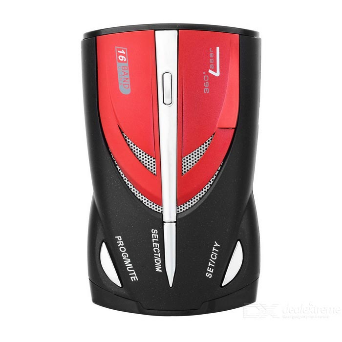 KD-9870 1.5 LCD 360 Degree Digital Radar Detector -  Black + Red