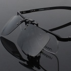 Reedoon 2202 Clip-on UV400 Protection Dark Grey Sunglasses - Black