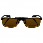 Reedoon 2202 Clip-on UV400 Protection Dark Grey Sunglasses - Yellow