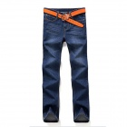 Super Durable Straight Men's Jeans Trousers - Blue (Size 32)