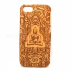 Buddha Pattern Detachable Protective Wood Back Case for IPHONE 5 / 5S - Wood
