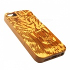 Lion Pattern Detachable Protective Wood Back Case for IPHONE 5 / 5S - Wood