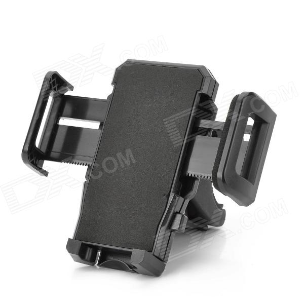 Universal Shockproof Antiskid Bicycle Mount Holder for IPHONE, PDA, MP4 and GPS - Black m09 motorcycle bicycle water resistant holder stand for iphone 4 4s black