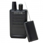 CW-03 Micro Wireless Audio Receive Transmitter HD Voice Audio Transmitter + Receiver - Black