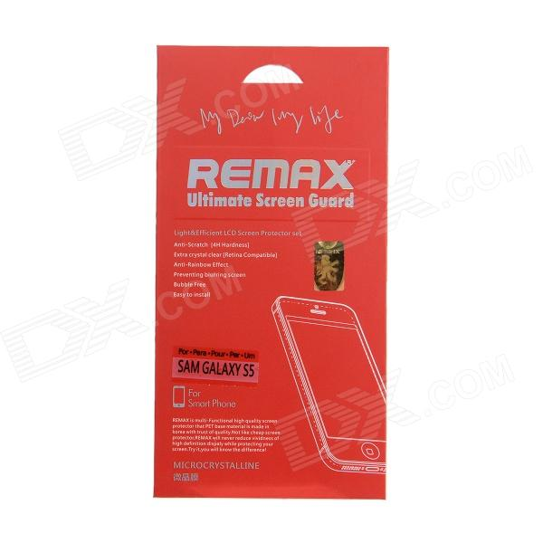 REMAX Clear Microcrystalline Protective PET Screen Protector for Samsung Galaxy S5 i9600