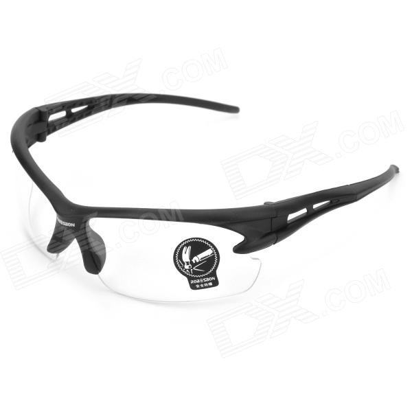 Bicycle Explosion-proof Glasses / Outdoor / Sun Glasses - Transparent + Black