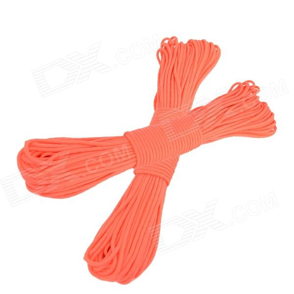 OUMILY Military Army Survival Parachute Rope - Red (30M / 140KG / 2 PCS) oumily military army survival parachute rope khaki 30m 140kg 2 pcs