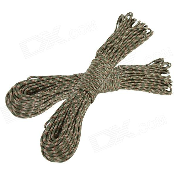 OUMILY Military Army Survival Parachute Rope - Army Green Camouflage (30M / 140KG / 2 PCS) oumily military army survival parachute rope khaki 30m 140kg 2 pcs