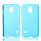 Fashionable Super Thin Protective Glaze PC Back Case for Samsung Galaxy S5 - Light Blue