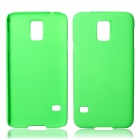 Fashionable Super Thin Protective Glaze PC Back Case for Samsung Galaxy S5 - Green