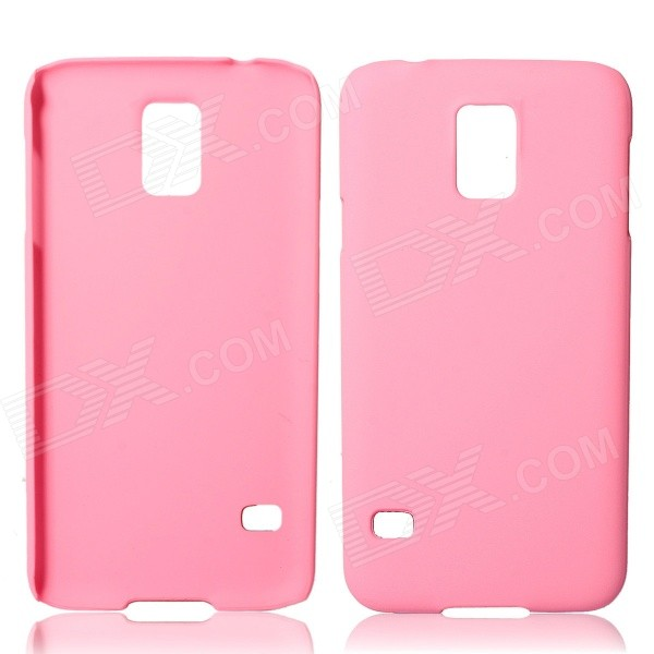 Fashionable Super Thin Protective Glaze PC Back Case for Samsung Galaxy S5 - Pink fashionable super thin protective glaze pc back case for samsung galaxy s5 black