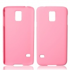 Fashionable Super Thin Protective Glaze PC Back Case for Samsung Galaxy S5 - Pink