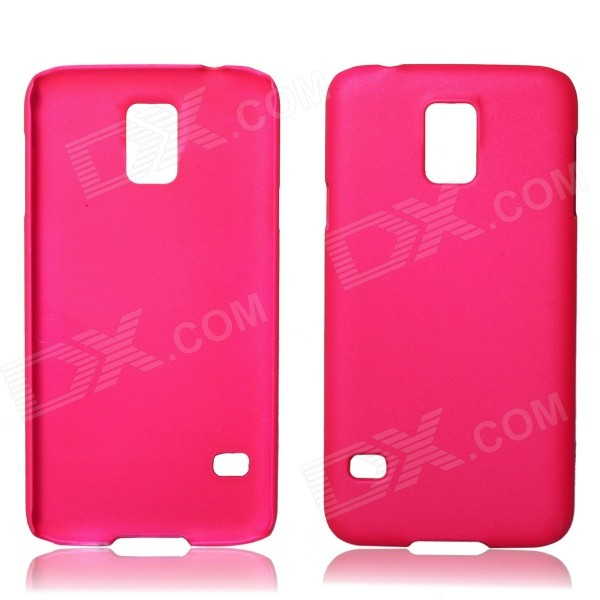 Fashionable Super Thin Protective Glaze PC Back Case for Samsung Galaxy S5 - Deep Pink fashionable super thin protective glaze pc back case for nokia lumia 1320 deep blue