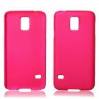 Fashionable Super Thin Protective Glaze PC Back Case for Samsung Galaxy S5 - Deep Pink