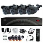 SANNCE P2P HDMI 4-Ch H.264 QR Code Scan DVR +4x800TVL Cameras CCTV Security System(For NTSC Country)