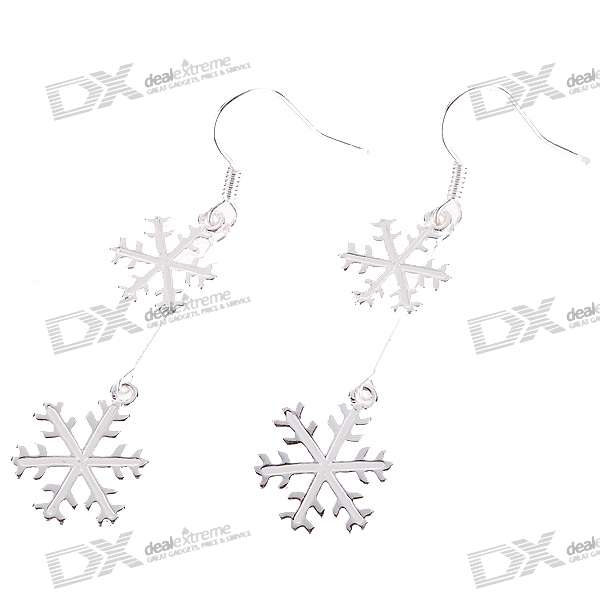 Silver Plated Snowflake Earrings (Pair) диски helo he844 chrome plated r20