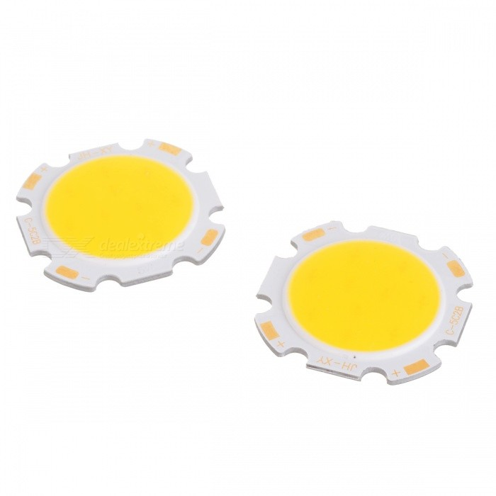 WaLangTing 5W 450lm 3200K COB LED Warm White Round Light Source - Yellow (15~18V / 2 PCS)