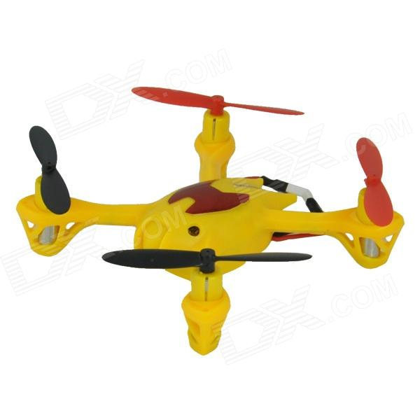 Brilink BH06 Mini 2.4G Radio Control 4-CH Quadcopter R/C Aircraft 3D Tumbling w/6-Axis Gyro - Yellow