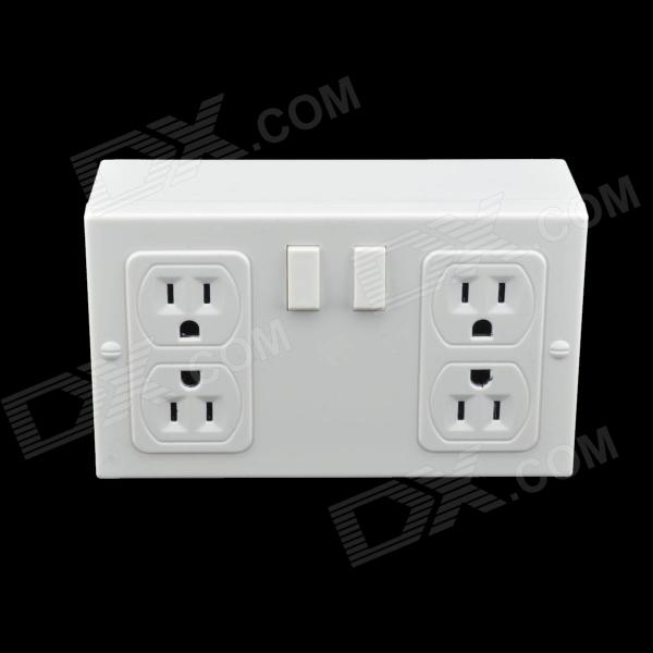 4-Hole Hidden Wall Outlet Safe - White great wall safe suv g5 новый